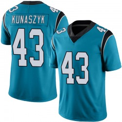Jordan Kunaszyk Carolina Panthers Limited Men's Alternate Vapor Untouchable Jersey (Blue)