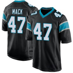 Jordan Mack Carolina Panthers Game Youth Team Color Jersey (Black)