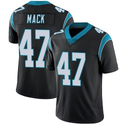 Jordan Mack Carolina Panthers Limited Men's Team Color Vapor Untouchable Jersey (Black)