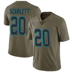 Jordan Scarlett Carolina Panthers Limited Men's 2017 Salute to Service Jersey (Green)