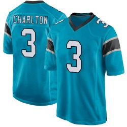 Joseph Charlton Carolina Panthers Game Men's Alternate Jersey (Blue)