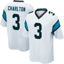 Joseph Charlton Carolina Panthers Game Youth Jersey (White)