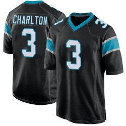 Joseph Charlton Carolina Panthers Game Youth Team Color Jersey (Black)