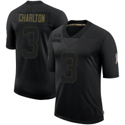Joseph Charlton Carolina Panthers Limited Men's 2020 Salute To Service Jersey (Black)