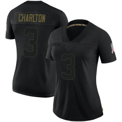 Joseph Charlton Carolina Panthers Limited Women's 2020 Salute To Service Jersey (Black)
