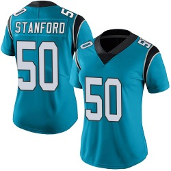 Julian Stanford Carolina Panthers Limited Women's Alternate Vapor Untouchable Jersey (Blue)