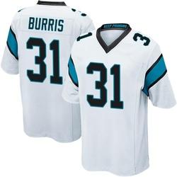 Juston Burris Carolina Panthers Game Youth Jersey (White)