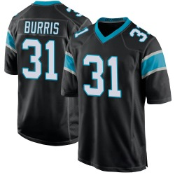 Juston Burris Carolina Panthers Game Youth Team Color Jersey (Black)