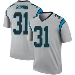 Juston Burris Carolina Panthers Legend Men's Inverted Silver Jersey ()