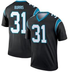 Juston Burris Carolina Panthers Legend Men's Jersey (Black)