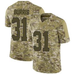 Juston Burris Carolina Panthers Limited Men's 2018 Salute to Service Jersey (Camo)