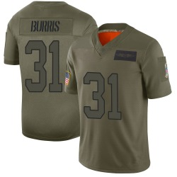 Juston Burris Carolina Panthers Limited Men's 2019 Salute to Service Jersey (Camo)
