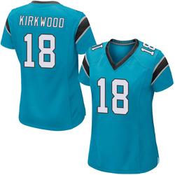 Keith Kirkwood Carolina Panthers Game Women's Alternate Jersey (Blue)