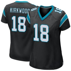 Keith Kirkwood Carolina Panthers Game Women's Team Color Jersey (Black)