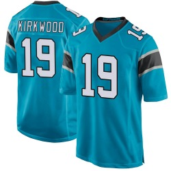 Keith Kirkwood Carolina Panthers Game Youth Alternate Jersey (Blue)