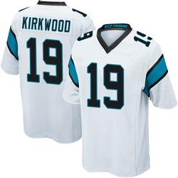 Keith Kirkwood Carolina Panthers Game Youth Jersey (White)