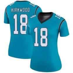 Keith Kirkwood Carolina Panthers Legend Women's Color Rush Jersey (Blue)