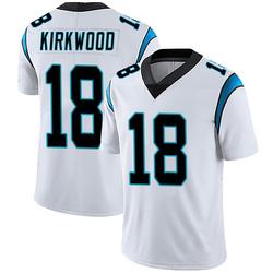 Keith Kirkwood Carolina Panthers Limited Men's Vapor Untouchable Jersey (White)