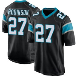 Kenny Robinson Carolina Panthers Game Youth Team Color Jersey (Black)