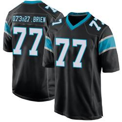Kitt O'Brien Carolina Panthers Game Men's Team Color Jersey (Black)