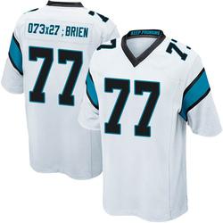 Kitt O'Brien Carolina Panthers Game Youth Jersey (White)