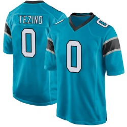 Kyahva Tezino Carolina Panthers Game Men's Alternate Jersey (Blue)
