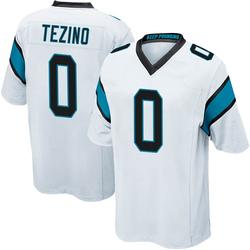 Kyahva Tezino Carolina Panthers Game Men's Jersey (White)