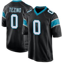 Kyahva Tezino Carolina Panthers Game Youth Team Color Jersey (Black)