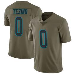 Kyahva Tezino Carolina Panthers Limited Men's 2017 Salute to Service Jersey (Green)