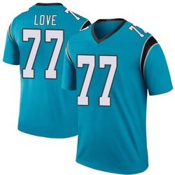 Kyle Love Carolina Panthers Legend Men's Color Rush Jersey (Blue)