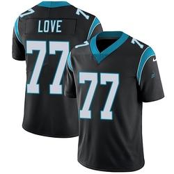 Kyle Love Carolina Panthers Limited Youth Team Color Vapor Untouchable Jersey (Black)