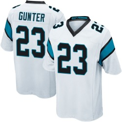 LaDarius Gunter Carolina Panthers Game Men's Jersey (White)