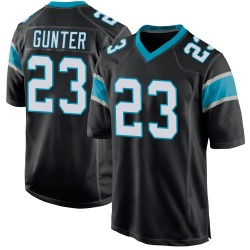 LaDarius Gunter Carolina Panthers Game Youth Team Color Jersey (Black)