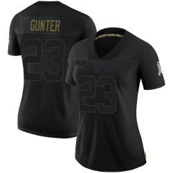 LaDarius Gunter Carolina Panthers Limited Women's 2020 Salute To Service Jersey (Black)