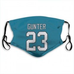 Ladarius Gunter Carolina Panthers Jersey Name & Number Face Mask (Blue)