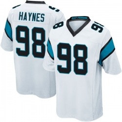 Marquis Haynes Carolina Panthers Game Men's Jersey (White)