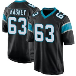 Matt Kaskey Carolina Panthers Game Youth Team Color Jersey (Black)