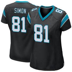 Micah Simon Carolina Panthers Game Women's Team Color Jersey (Black)