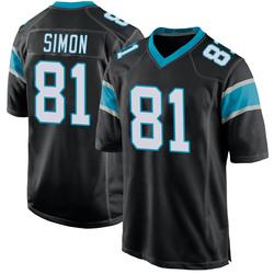 Micah Simon Carolina Panthers Game Youth Team Color Jersey (Black)