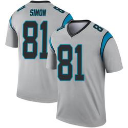 Micah Simon Carolina Panthers Legend Youth Inverted Silver Jersey ()