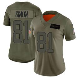 Micah Simon Carolina Panthers Limited Women's 2019 Salute to Service Jersey (Camo)