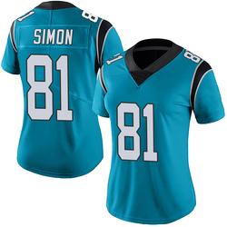 Micah Simon Carolina Panthers Limited Women's Alternate Vapor Untouchable Jersey (Blue)