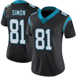 Micah Simon Carolina Panthers Limited Women's Team Color Vapor Untouchable Jersey (Black)