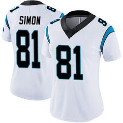 Micah Simon Carolina Panthers Limited Women's Vapor Untouchable Jersey (White)