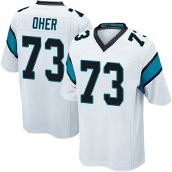Michael Oher Carolina Panthers Game Youth Jersey (White)