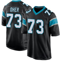 Michael Oher Carolina Panthers Game Youth Team Color Jersey (Black)