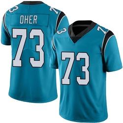Michael Oher Carolina Panthers Limited Men's Alternate Vapor Untouchable Jersey (Blue)