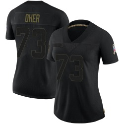 Michael Oher Carolina Panthers Limited Women's 2020 Salute To Service Jersey (Black)