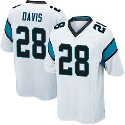 Mike Davis Carolina Panthers Game Youth Jersey (White)