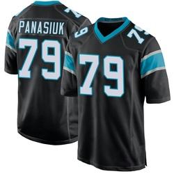 Mike Panasiuk Carolina Panthers Game Men's Team Color Jersey (Black)